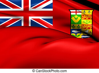 Canadian Red Ensign 1868-1921 Close Up
