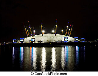 Millennium Dome at night - o2 Millennium Dome at night-View...