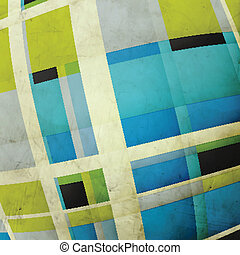 wide angle - abstract grunge texture with colorful squares