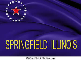 Flag of Springfield, USA. Close Up.