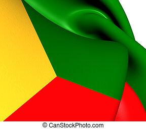 Flag of Zabaykalsky Krai, Russia.