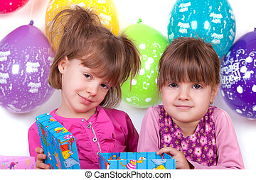 Kids celebrating birthday party