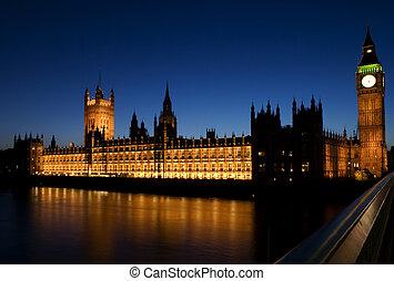 Big Ben, at Twilight - Big Ben has become a symbol of the...