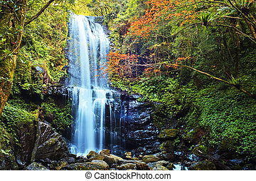 Waterfalls at fall, Taiwan for adv or others purpose use