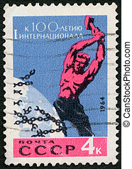 USSR - 1964: devoted to Centenary of First Socialist...