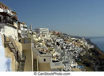 thira - view of Thira at the greek island of Santorini...