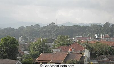 residential area in Bandung - poor residential area in...