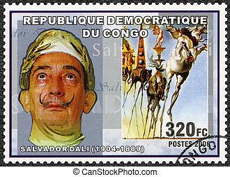 CONGO - 2006: shows Salvador Dali (1904-1989), painter -...