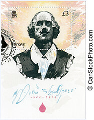 JERSEY - 2014: shows William Shakespeare (1564-1616), 450th...