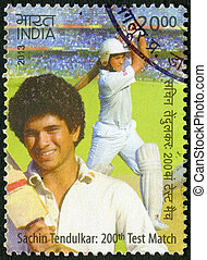 INDIA - 2013: shows Sachin Tendulkar, cricketer player,...