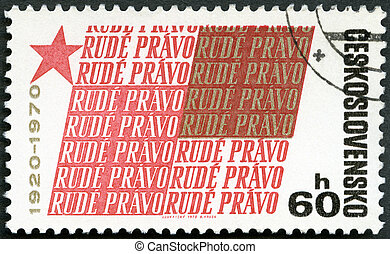 CZECHOSLOVAKIA - 1970: dedicated 50th anniversary of the...