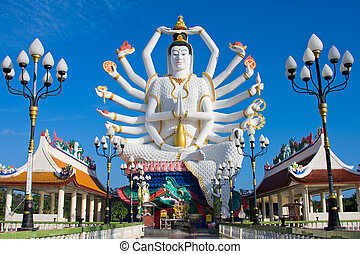 Statue of Shiva - Statue of Shiva on Koh Samui island in...