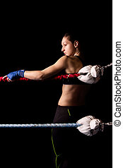 woman kickboxer