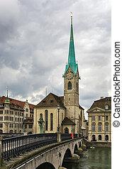 Fraumunster Church - The Fraumunster Church in Zurich is...