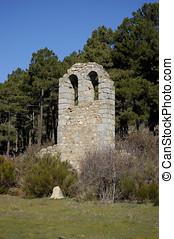 odstępować, wieża, dzwon