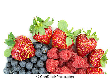 Yummy berries, close up image