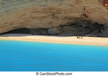Porto Katsiki beach on the Ionian island of Lefkas Greece