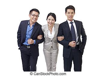 asian business team - studio portrait of an asian business...