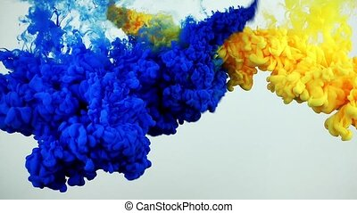 Colorful Ink Splash in Underwater