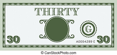 Thirty money bill image logo