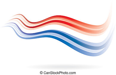 Flag swoosh red and blue image.