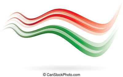 Flag swoosh read white green image