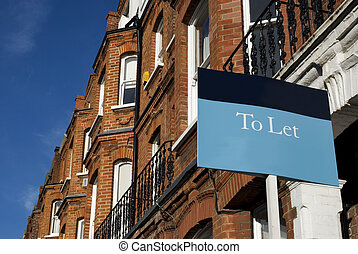 Terraced house - A typical red-brick townhouse with To Let...