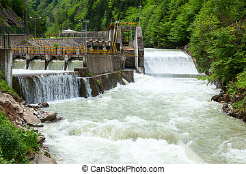 Hydroelectric power station - Small hydro power plant in...