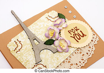 scrapbooking - hand made scrapbooking post card