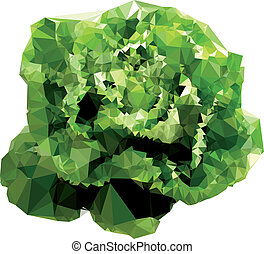 Polygonal Salad Illustration - Geometrical green salad...