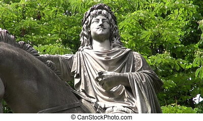 king of France statue in Paris park - king of France statue...