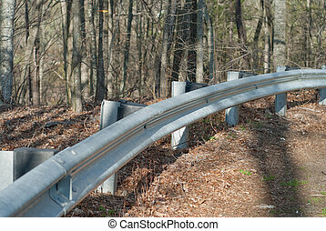 guardrail - partial view of guard rail on a country road