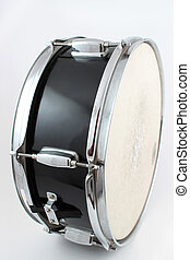 Snare drum on a white background shallow depth of field