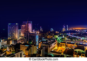 Pattaya City Thailand, Night Light