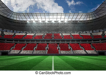Football stadium full of england fans - Digitally generated...