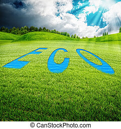 Eco meadow, abstract environmental backgrounds for your design