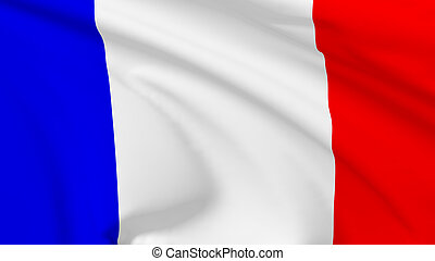 Flag of French Republic - National flag of French Republic...