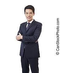 portrait of young asian businessman - portrait of a young...