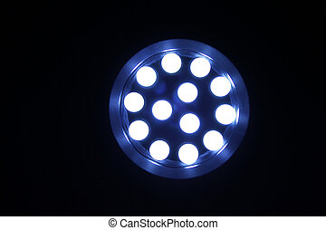 Light Emitting Diodes - Close up photograph of LEDs mounted...