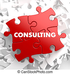 Consulting on Red Puzzle - Consulting on Red Puzzle on White...