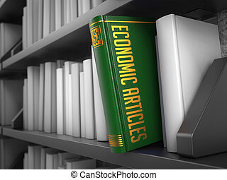 Economic Articles - Title of Book. Internet Concept. -...