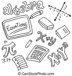 Algebra Symbols and Objects - An image of algebra symbols...