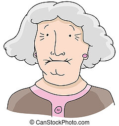 Toothless Old Woman - An image of toothless old woman.