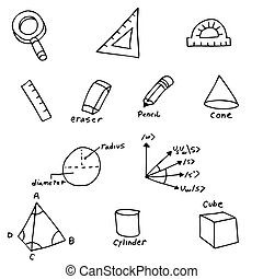 Geometry Symbols - An image of geometry symbols