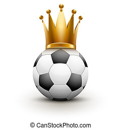 Soccer ball with royal crown of queen - Soccer ball with...