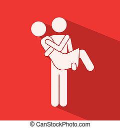 Love design over red background,vector illustration