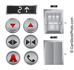 Elevator design over white background, vector illustration