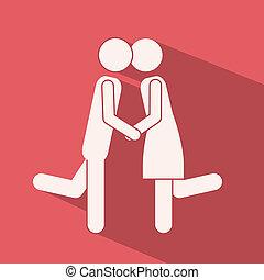 Love design over pink background,vector illustration