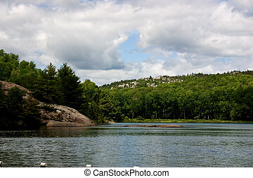 Lake in the Muskokas - Lake view in the Haliburton Ontario...
