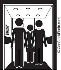 Elevator design over white background, vector illustration